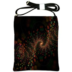 Multicolor Fractals Digital Art Design Shoulder Sling Bags