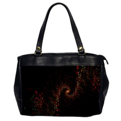 Multicolor Fractals Digital Art Design Office Handbags