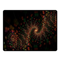 Multicolor Fractals Digital Art Design Fleece Blanket (Small)