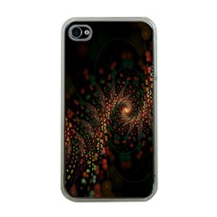 Multicolor Fractals Digital Art Design Apple iPhone 4 Case (Clear)