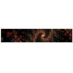 Multicolor Fractals Digital Art Design Flano Scarf (Large)
