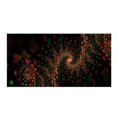 Multicolor Fractals Digital Art Design Satin Wrap