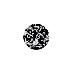 Vector Classical  Traditional Black And White Floral Patterns 1  Mini Magnets