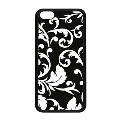 Vector Classical  Traditional Black And White Floral Patterns Apple iPhone 5C Seamless Case (Black)