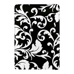 Vector Classical  Traditional Black And White Floral Patterns Samsung Galaxy Tab Pro 10.1 Hardshell Case
