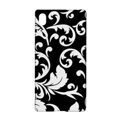 Vector Classical  Traditional Black And White Floral Patterns Sony Xperia Z3+