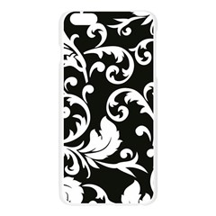 Vector Classical  Traditional Black And White Floral Patterns Apple Seamless iPhone 6 Plus/6S Plus Case (Transparent)