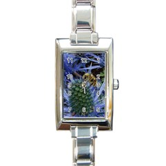 Chihuly Garden Bumble Rectangle Italian Charm Watch