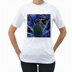 Chihuly Garden Bumble Women s T-Shirt (White) (Two Sided)