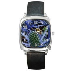 Chihuly Garden Bumble Square Metal Watch