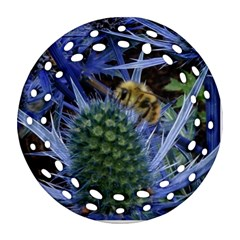 Chihuly Garden Bumble Round Filigree Ornament (Two Sides)