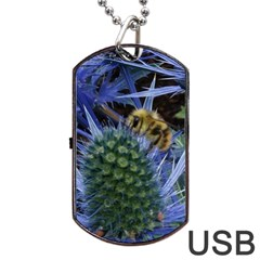 Chihuly Garden Bumble Dog Tag USB Flash (One Side)