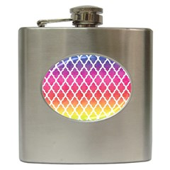 Colorful Rainbow Moroccan Pattern Hip Flask (6 oz)