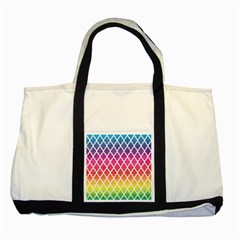 Colorful Rainbow Moroccan Pattern Two Tone Tote Bag
