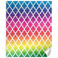 Colorful Rainbow Moroccan Pattern Canvas 16  x 20