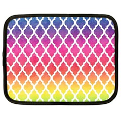 Colorful Rainbow Moroccan Pattern Netbook Case (Large)