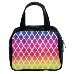 Colorful Rainbow Moroccan Pattern Classic Handbags (2 Sides)