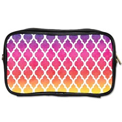 Colorful Rainbow Moroccan Pattern Toiletries Bags