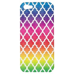 Colorful Rainbow Moroccan Pattern Apple iPhone 5 Hardshell Case