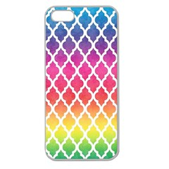 Colorful Rainbow Moroccan Pattern Apple Seamless iPhone 5 Case (Clear)