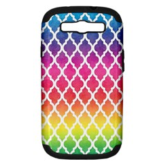 Colorful Rainbow Moroccan Pattern Samsung Galaxy S III Hardshell Case (PC+Silicone)
