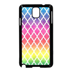 Colorful Rainbow Moroccan Pattern Samsung Galaxy Note 3 Neo Hardshell Case (Black)