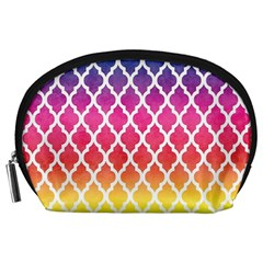 Colorful Rainbow Moroccan Pattern Accessory Pouches (Large)