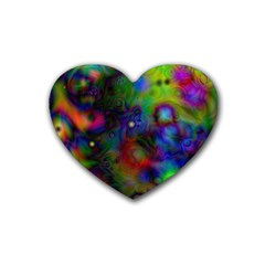 Full Colors Heart Coaster (4 pack)