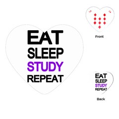 Eat sleep study repeat Playing Cards (Heart)