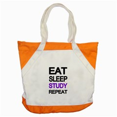 Eat sleep study repeat Accent Tote Bag