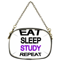 Eat sleep study repeat Chain Purses (Two Sides)