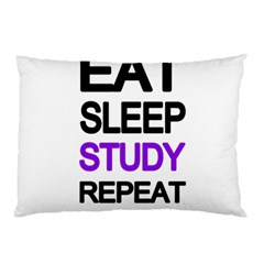 Eat sleep study repeat Pillow Case