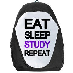 Eat Sleep Study Repeat Backpack Bag