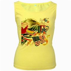 United States Of America Usa Images Independence Day Women s Yellow Tank Top