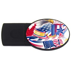 United States Of America Usa Images Independence Day USB Flash Drive Oval (4 GB)