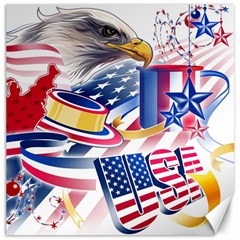 United States Of America Usa Images Independence Day Canvas 12  x 12