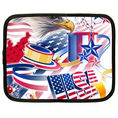 United States Of America Usa Images Independence Day Netbook Case (XL)