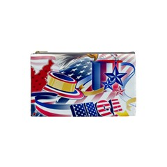 United States Of America Usa Images Independence Day Cosmetic Bag (Small)
