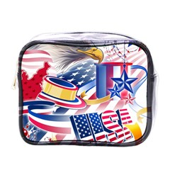 United States Of America Usa Images Independence Day Mini Toiletries Bags
