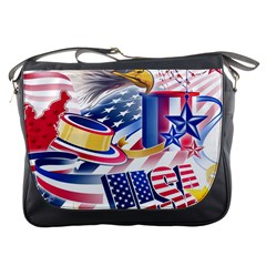 United States Of America Usa Images Independence Day Messenger Bags