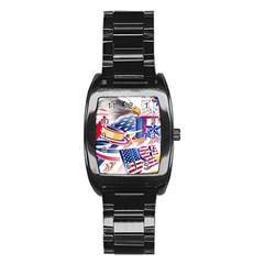 United States Of America Usa Images Independence Day Stainless Steel Barrel Watch