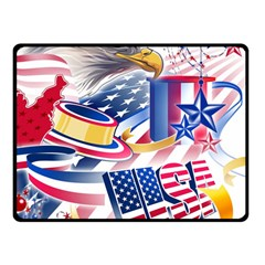United States Of America Usa Images Independence Day Double Sided Fleece Blanket (Small)