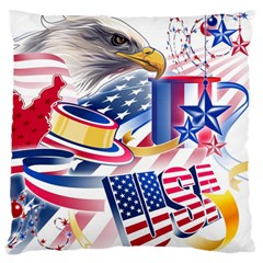 United States Of America Usa Images Independence Day Large Flano Cushion Case (Two Sides)