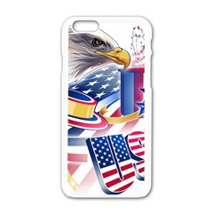United States Of America Usa Images Independence Day Apple iPhone 6/6S White Enamel Case