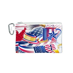 United States Of America Usa Images Independence Day Canvas Cosmetic Bag (S)