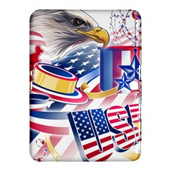United States Of America Usa Images Independence Day Samsung Galaxy Tab 4 (10.1 ) Hardshell Case