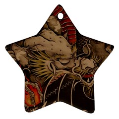 Chinese Dragon Star Ornament (Two Sides)