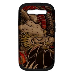 Chinese Dragon Samsung Galaxy S III Hardshell Case (PC+Silicone)