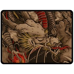 Chinese Dragon Double Sided Fleece Blanket (Large)