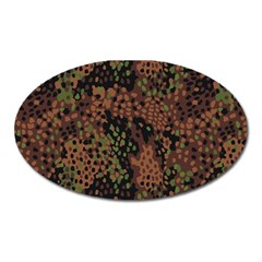 Digital Camouflage Oval Magnet